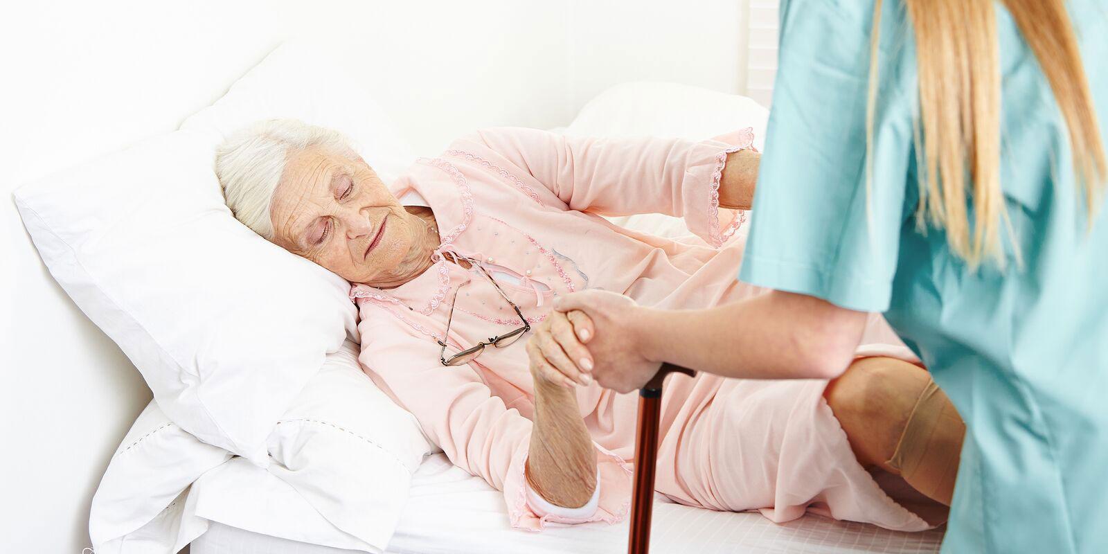 Elderly patient in a nursing home in Atlanta.